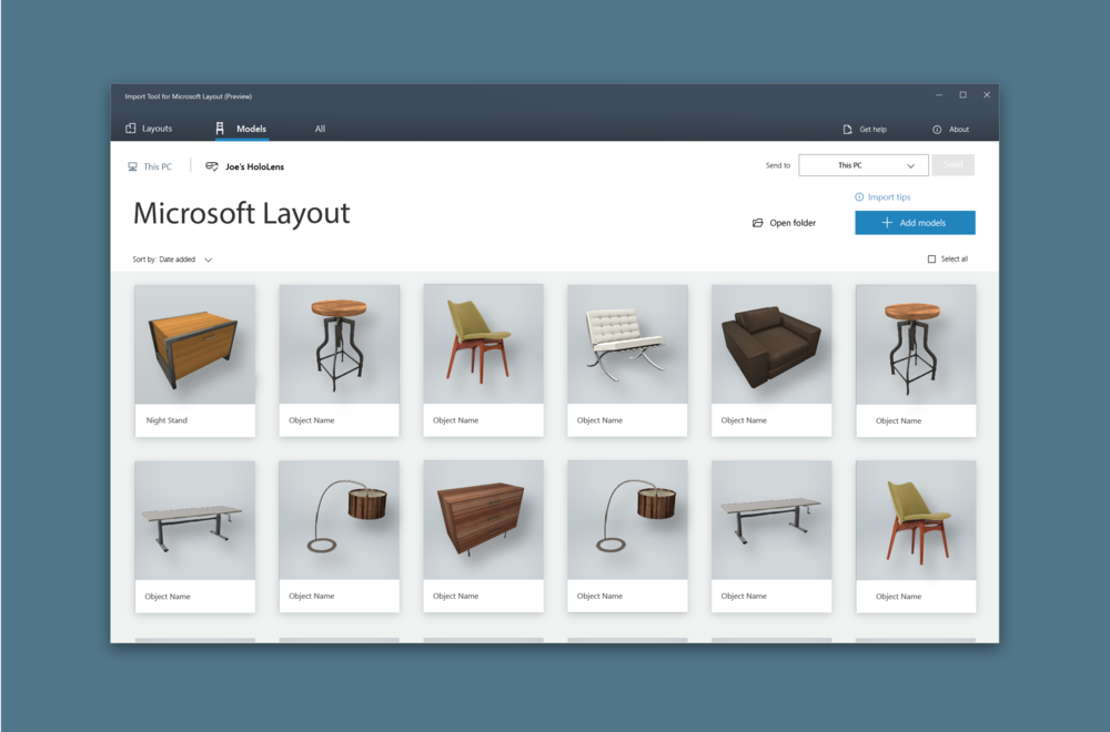 Microsoft D365Import Tool - UX/UI