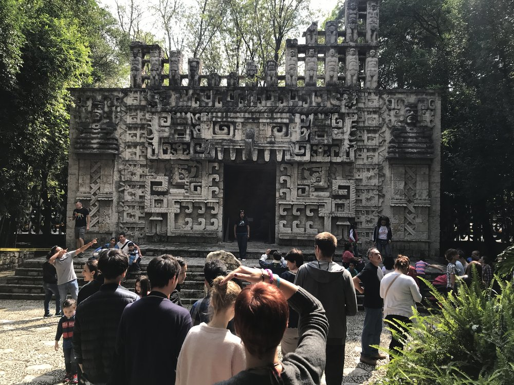 A true-to-life replica of the stunning Mayan architecture at the Museum of Anthropology in Mexico City.