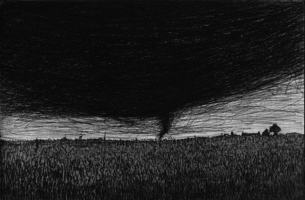 Tornado, 2015, Etching