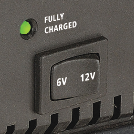 6V or 12V  Ideal for those who require a charger that can be used on both 6V and 12V batteries (AC400 only).