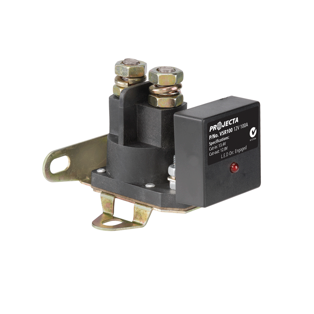 Dual Battery Systems Accessories Projecta Trailer Wiring Relay Kit 12v 100a Voltage Sensitive