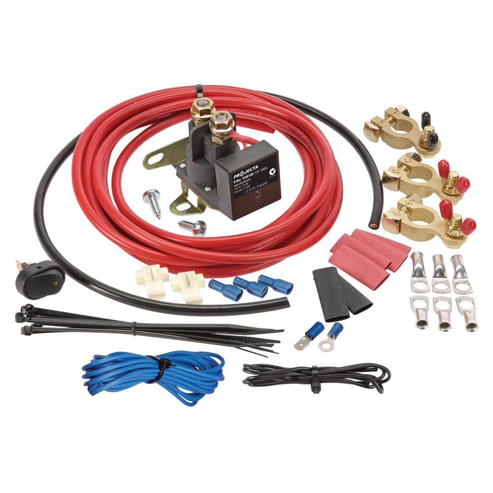 12v 100a Voltage Sensitive Relay Kit Projecta