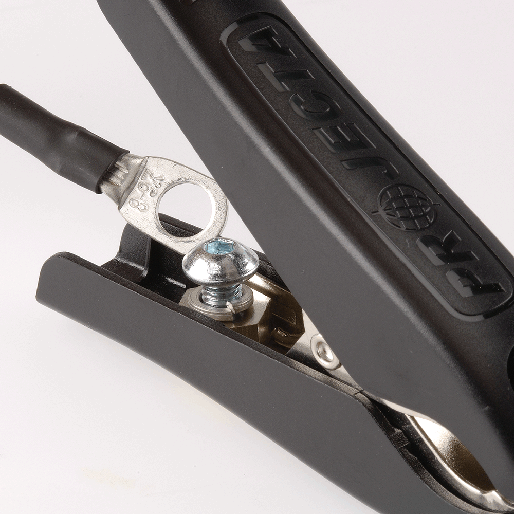 Hardwiring  Removable battery clamp for permanent installation, ideal for caravan, camper trailer applications (excludes IC100L &IC1500L).