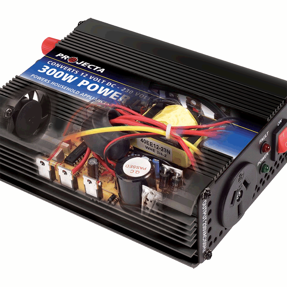 Noise filtering  All Projecta modified sine wave inverters feature EMC filtering and large electrolytic capacitors for smoother power delivery to reduce interference on your TV, radio, DVD, computers, etc.