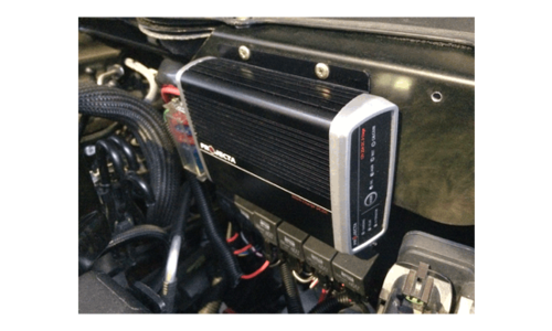 Engine Bay Installation Sealed to IP67, the IDC is dust, splash and shock proof and can safely operate in extreme temperatures up to 80°C
