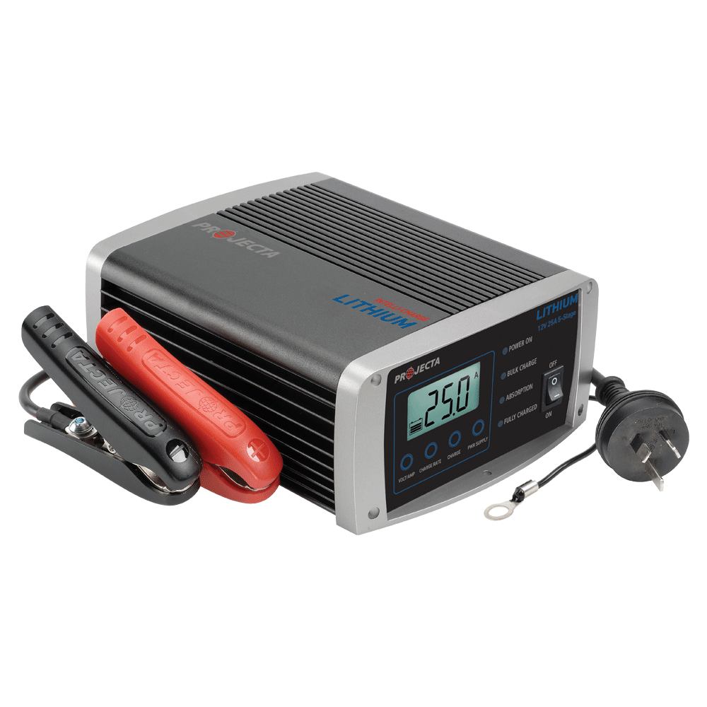 12v Automatic 25 Amp 5 Stage Lithium Battery Charger Projecta