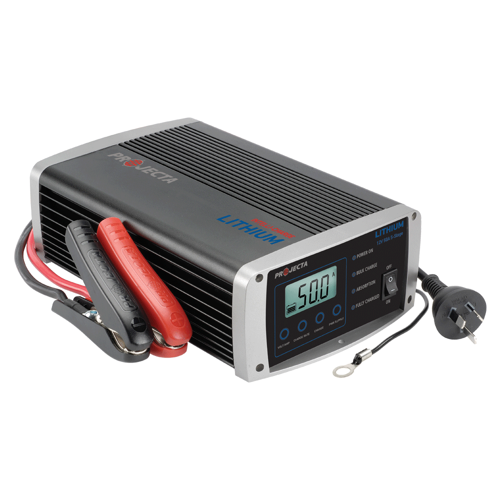 12v Automatic 50 Amp 5 Stage Lithium Battery Charger Projecta 6 To 12 Volt Power Supply Inverter