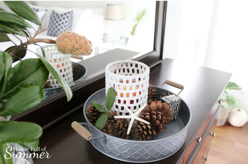 House Full of Summer: Fall Home Tour Blog Hop - Cozy, Coastal, Chic