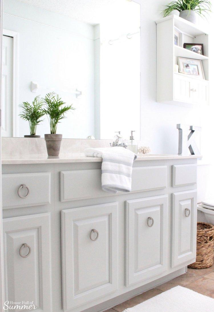 Easy Bathroom Cabinet Transformation — House Full of Summer