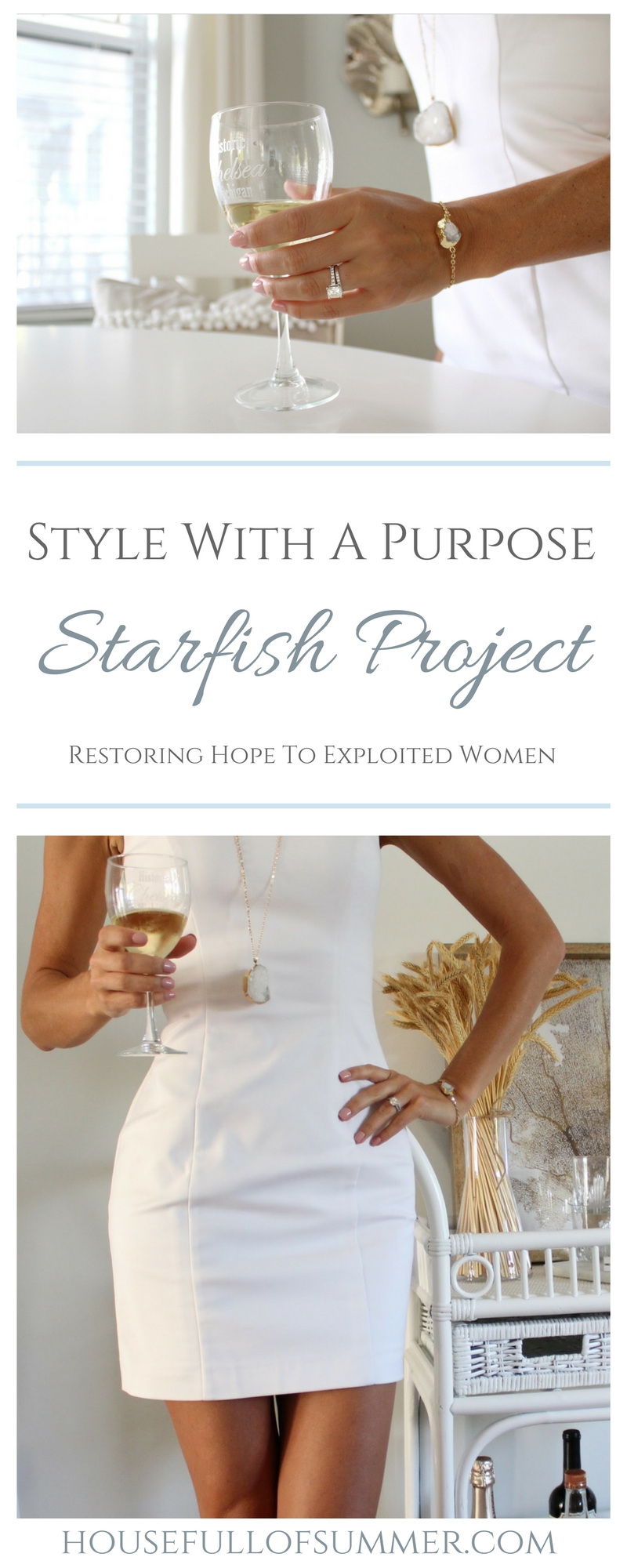 Style With A Purpose - Starfish Project | House Full of Summer Blog -help exploited women, human trafficking, jewelry, gold necklace, bracelet