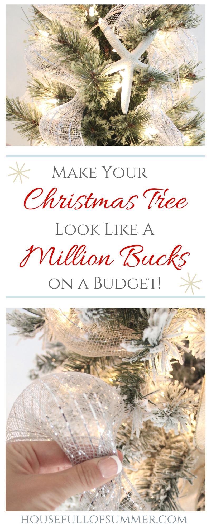 Make Your Christmas Tree Look Like a Million Bucks on a Budget | House Full of Summer blog - christmas tree styling, how to decorate a christmas tree, christmas tree tips, ideas, holiday decor, coastal home and lifestyle, diy christmas tips