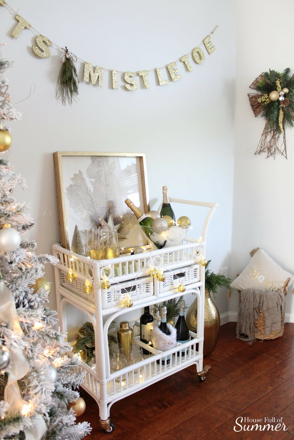 NYE Bar Cart Blog Hop — House Full of Summer