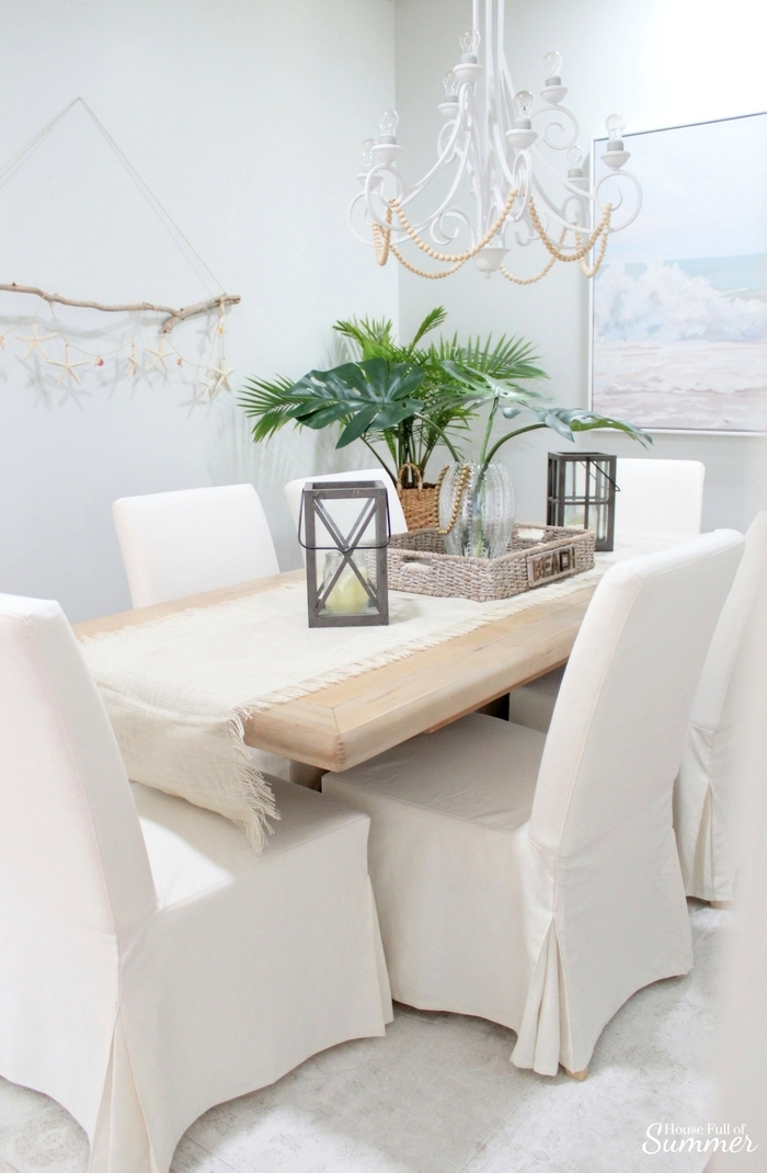 Why I Love My White Slipcovered Dining Chairs! | House Full of Summer - These & Why I Love My White Slipcovered Dining Chairs u2014 House Full of Summer ...