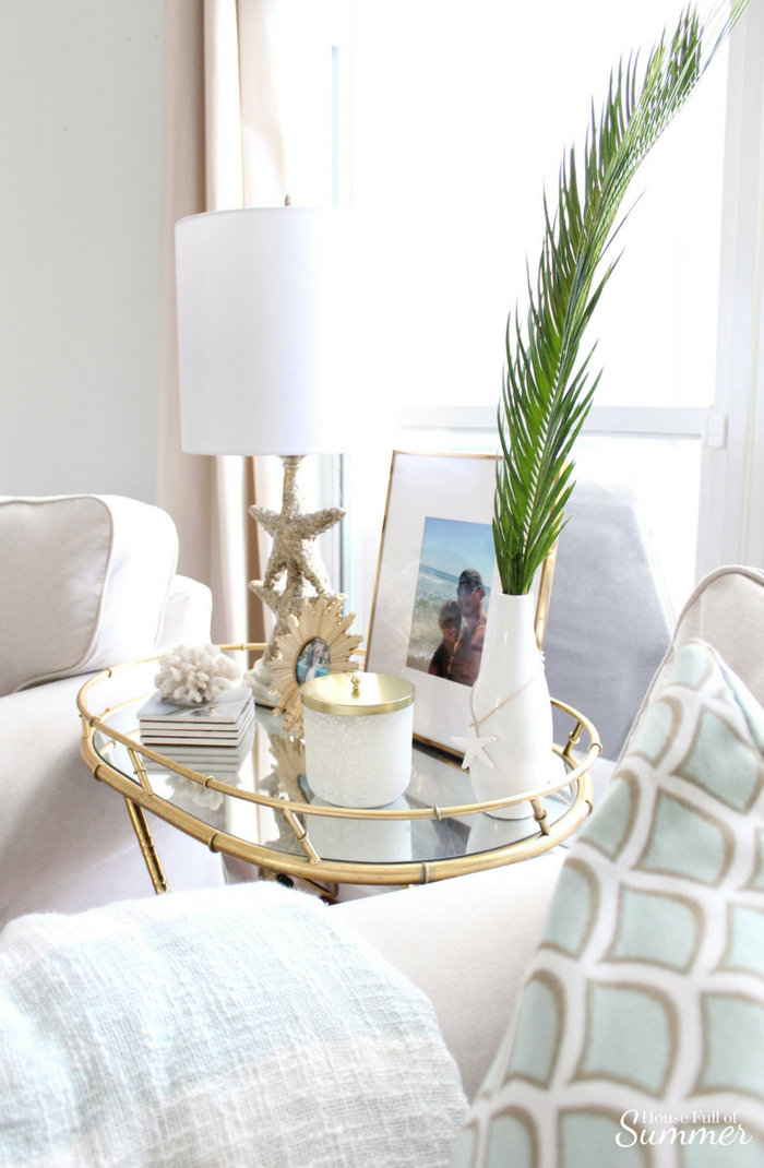 Loveliest Looks of Summer Tour | Fresh & Breezy Summer Style - coastal home decor for summertime, summer outfit ideas, ruffle top, tassel earrings, living room decor, dining room decor, tropical greenery, decor on a budget, free ways to decorate, foyer styling