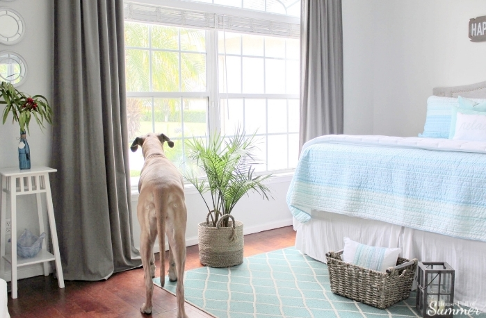 Adding An Office Space To A Guest Room | House Full Of Summer   Coastal  Bedroom