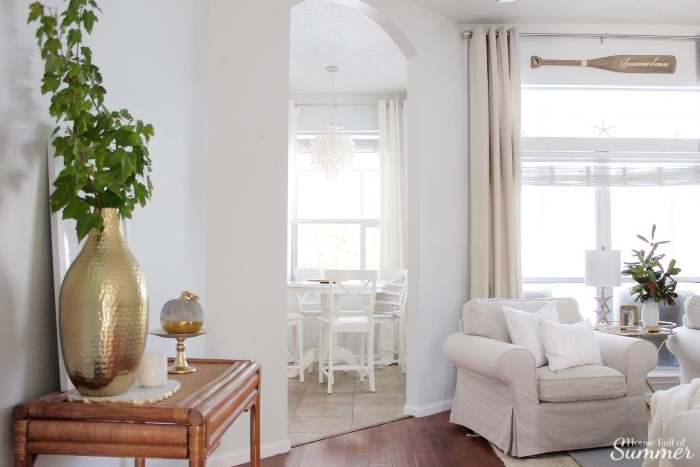 Simple And Subtle Fall Decor   Touches Of Fall Home Tour Blog Hop   House  Full