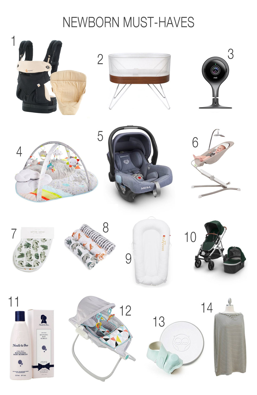 14 Newborn Must Haves by Las Vegas mom bloggers Life of a Sister