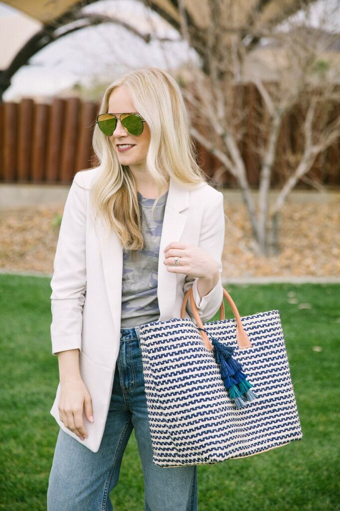 Straw Totes by popular Las Vegas fashion bloggers Life of a Sister