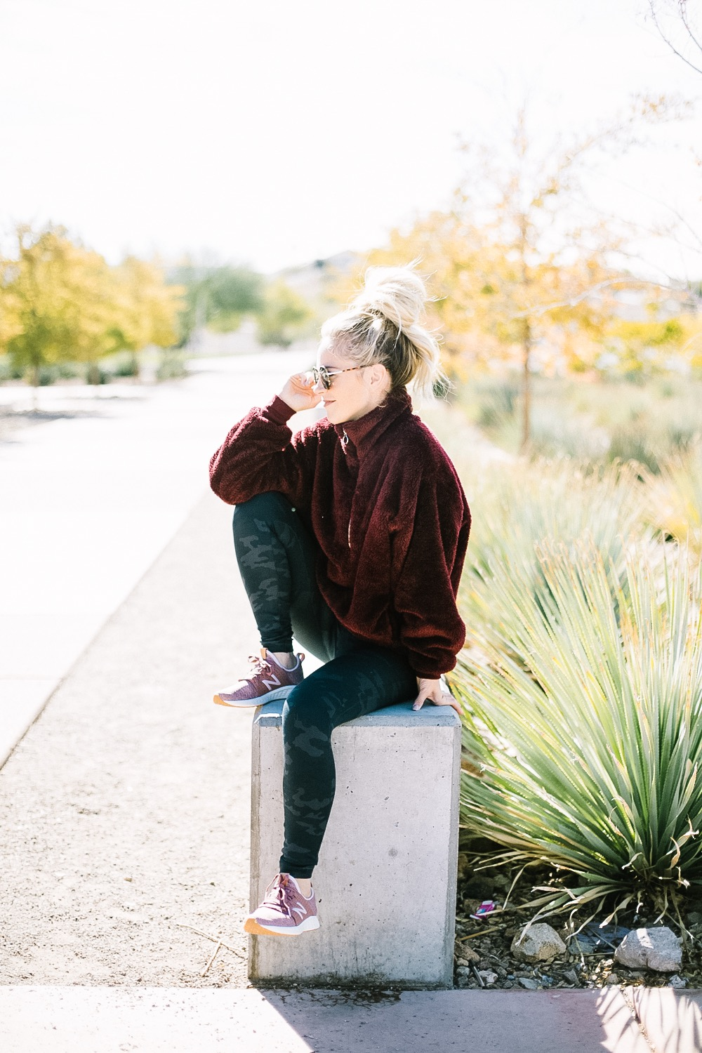 Holiday Shoe Gift Ideas with Kohls featured by top Las Vegas fashion blog, Life of a Sister: image of a woman wearing New Balance Fresh Foam Sneakers