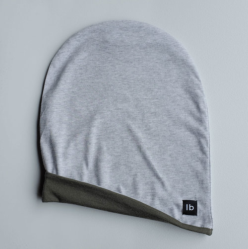 d92c64b6819 Grey Marl   Forest Beanie. Child slow fashion deadstock new zealand made  merino lined unisex slouch organic ...