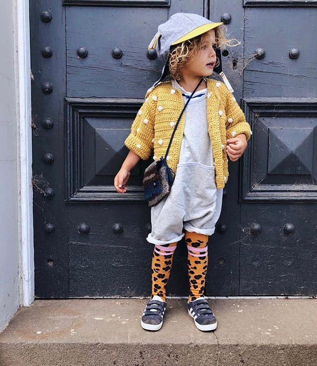 Check out Noah you guys.  Far too much cuteness in one pic. Romps & bag are ours, awesome hat by @myz_the_label, tights & adorable cardi by @lillsterworld .  Go follow the lovely Fiona @haus_of_boys and you'll be rewarded with fabulously styled kids clothes, often with a unisex quirky edge. Oh plus her boys are the most beautiful wild haired, sun kissed, easy cool bunch of bros on IG. 😍