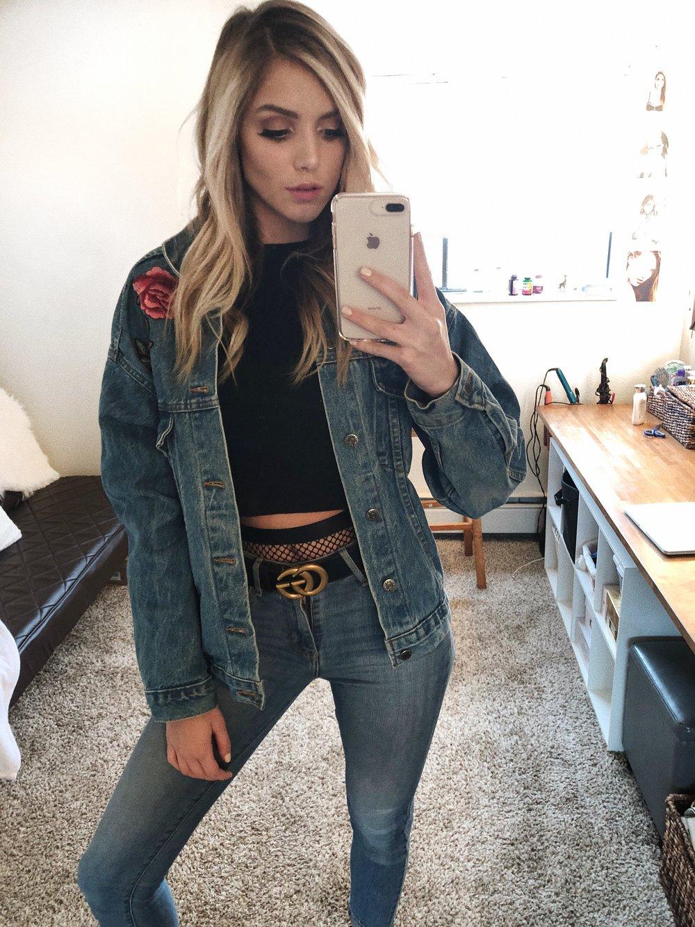 Wednesday - Jacket- Girl Shop LAShirt- BershkaFishnet underwear- Urban OutfittersBelt- GucciJeans- Levis