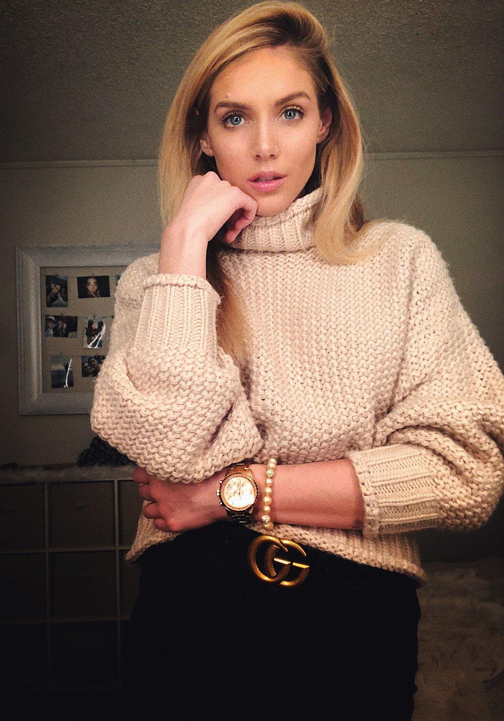 Monday - Sweater- H&MWatch- GuessBracelet- Trice JewelersBelt- GucciPants- Levis