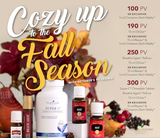 Cozy up to fall with Young Living's October Essential Rewards promotion