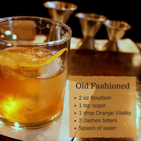 Warm up with cold weather cocktails featuring essential oils. Learn hot to make an apple cider hot toddy and an old fashioned.
