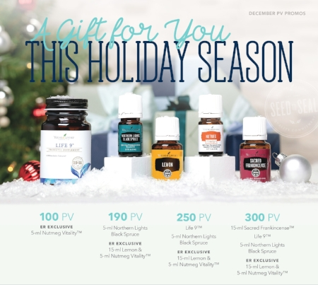 Young Living's December 2017 Essential Rewards Promotion: Earn free oils and products
