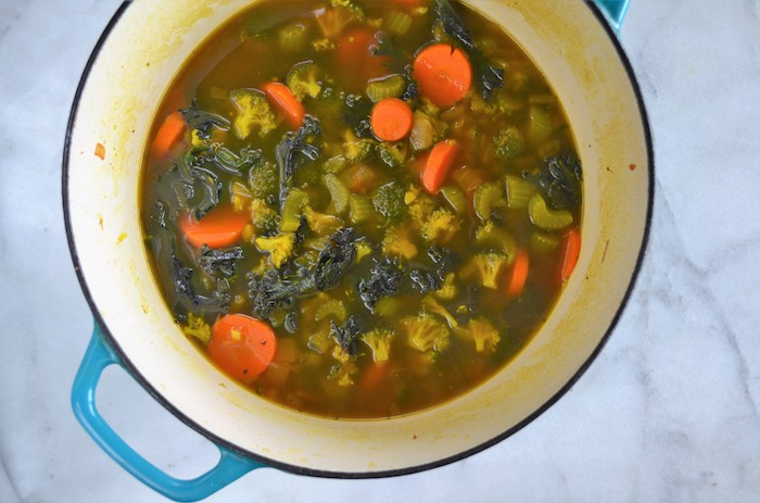 Vegetarian Detox Soup - An easy and healthy recipe featuring ginger and tumeric