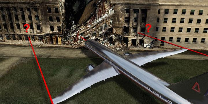 Pentagon impact physics don't match; No wreckage