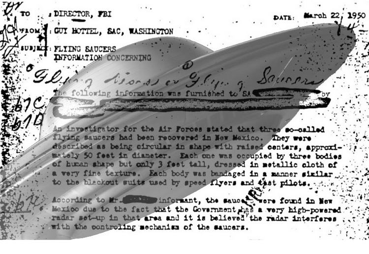 Related: 1950 FBI memo confirms flying saucer phenomena (click to zoom)