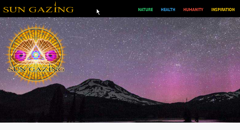 Excellent Sun Gazer Resource.  - Like Veganism Sun Gazing is a way of life.