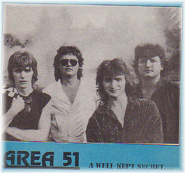 AREA 51 - Yep, that was the name of my ORIGINAL band in the 1990'sI was still rockin' just married with children and being a pro geek.| Brad Farnsler | Me | Russ Kern | ? |