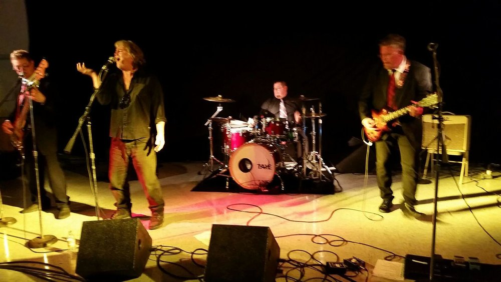 Bein' a FrontMan - My old band buddy Mark Sutherlands band (far right)