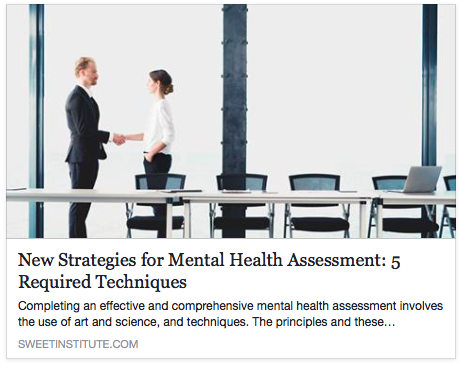 SWEET Institute-New Strategies for Mental Health Assessment