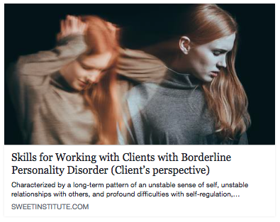 Skills for working with clients with Borderline Personality Disorder (Client's Perspective)