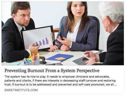Preventing Burnout from a system perspective