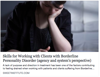 Skills for Working with Clients with Borderline Personality Disorder (agency and system's perspective)