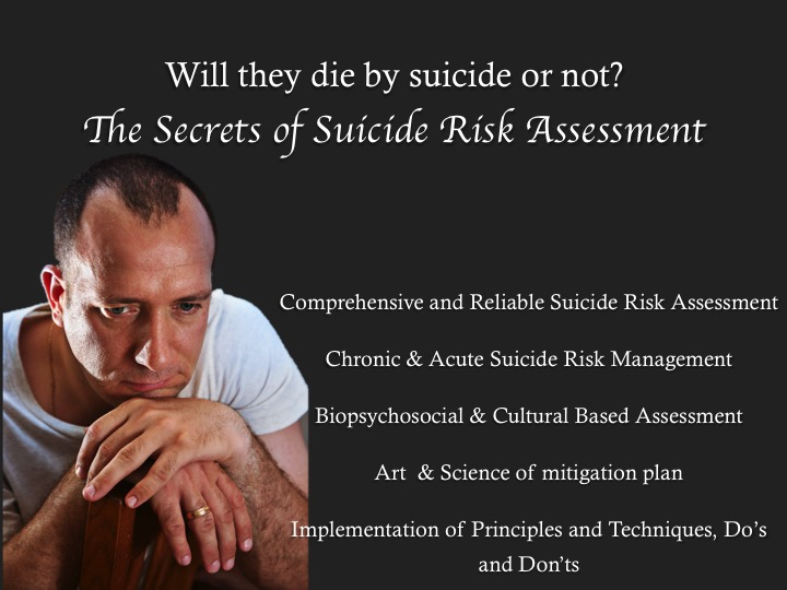 Will they Die by Suicide or Not? The Secrets of Suicide Risk Assessment