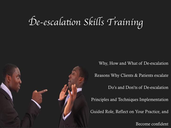 De-escalation Skills Training