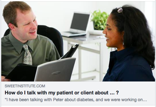 How do I talk with my patient or client about … ?  June 1, 2018 How Do I Talk With My Patient Or Client About … ?