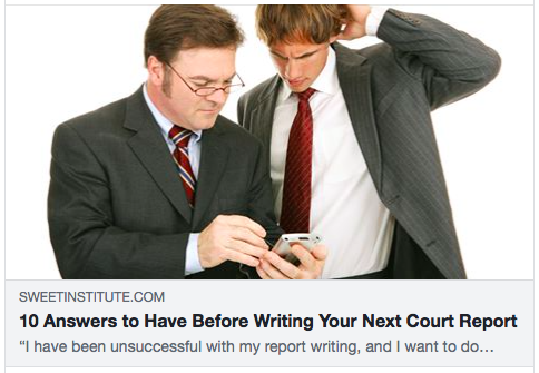10 Answers to Have Before Writing Your Next Court Report