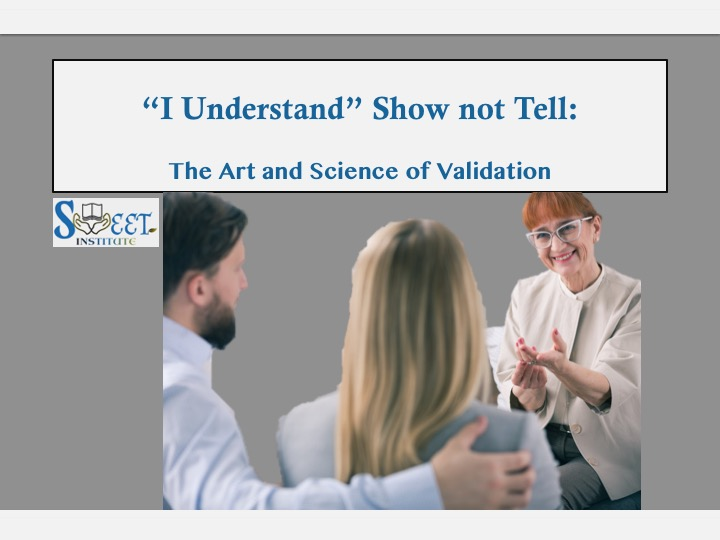 SWEET Institute The art and Science of Validation