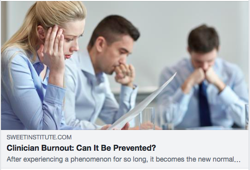 Clinician Burnout: Can It Be Prevented?