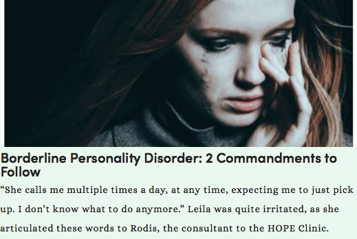 Borderline Personality Disorder: What Is Needed — Sweet Institute