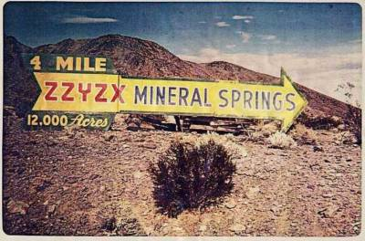 Welcome to zzyzx, california  -