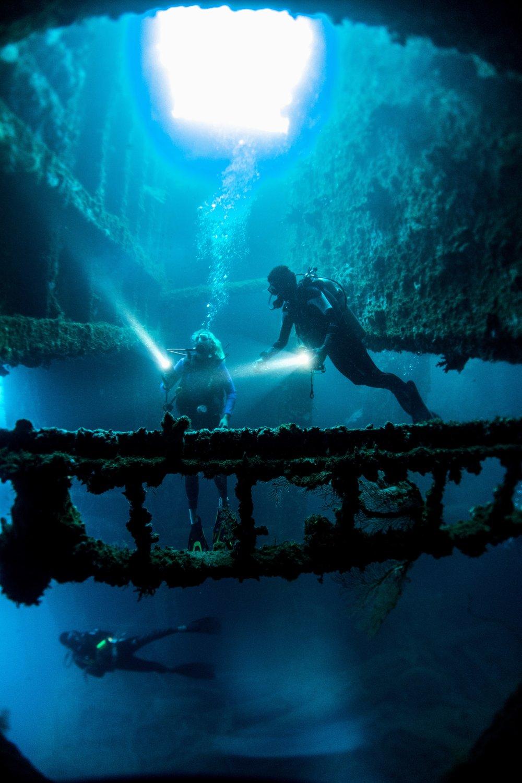 Diving the SS President Coolidge. Photo credit: Vanuatu Tourism Office