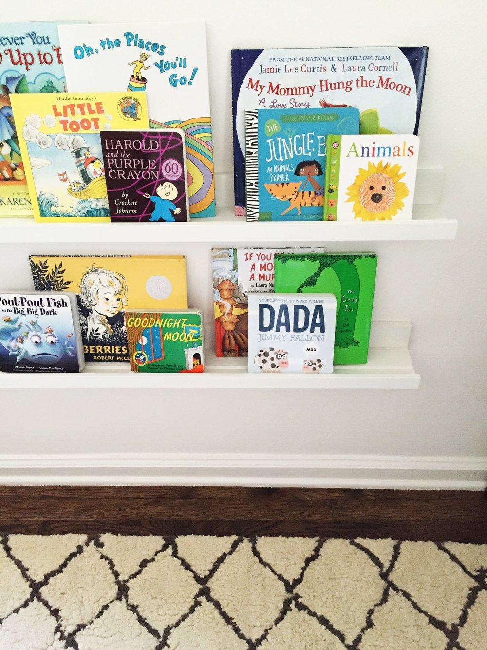 ikea bookshelf nursery.JPG